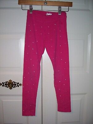 Justice girls pink embellished leggings size 12