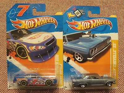 2 Hot Wheels 2011 New Models 64 Chevy Chevelle Ss & Danica Patrick 2010 Impala
