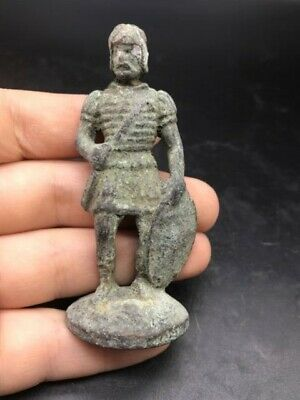 Wonderful old Byzantine Roman bronze ancient chass pice antique statue