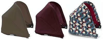 Bugaboo Bee 5 Sun Canopy Shade - Waves / Red / Olive