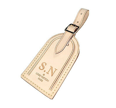 Louis Vuitton Name Tag w/ SN Initials 🏷 LARGE 100% Authentic 🇫🇷