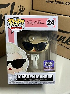 Funko Pop! Icons Hollywood Store Exclusive Marilyn Monroe Sunglasses Blonde 24