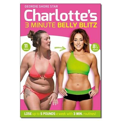 Charlotte's 3 Minute Belly Blitz Dvd - Charlotte Crosby - Very Good Condition