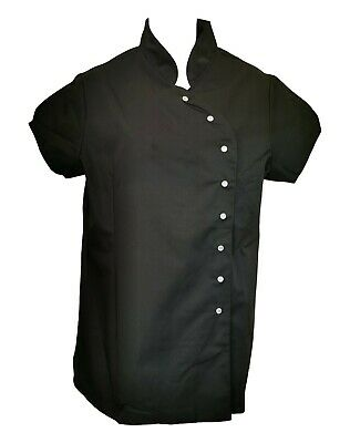 Job Lot Of 3 Black Button Down Hairdressing/Beauty Tunics