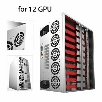 Crypto Coin Open Air Mining Miner Frame Rig Graphics Case Fit 10-12 GPU ETH J