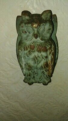 Vintage Brass # 633 Figural Owl Door Knocker