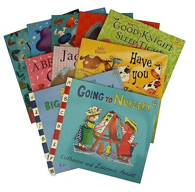Bedtime Picture Book X 10 Set in Clear Wallet Children Nursery Kids Books New
