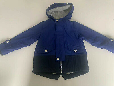 Boys Blue Rain Coat Age 18-24 Months - MARKS & SPENCER / M&S - Great Condition.
