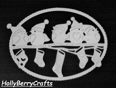 """Tattered Lace Christmas, Seasonal Die Cut Toppers ~ """"Festive Robins"""""""
