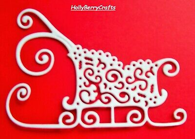 """Tattered Lace Christmas Die Cut Toppers ~ """"Sleigh"""""""
