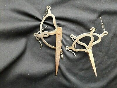 Pair of Vintage Butler's Bell Double Lever  Spikes