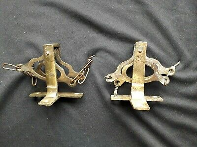Pair of Vintage  Solid Brass Butler's Bell Double Lever Cranks