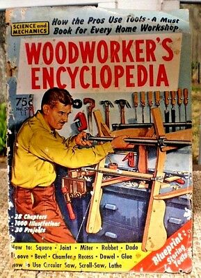 1961 Woodworker's Paper Encyclopedia #572 Science Mechanics Monthly English USA