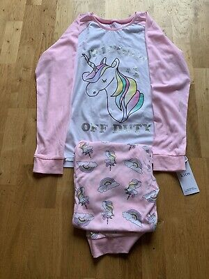 Girls Pink And White Pjamas From M&S Aged 15-16 Years Brand New With Tags