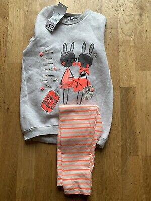 Girls Matching Jumper And Leggings From George Aged 7-8 Years BNWT