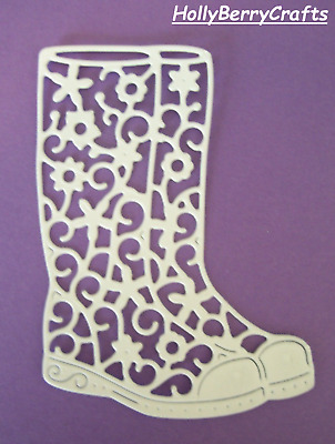 """Tattered Lace Animal, Farm Die Cut Toppers ~ """"Festival Wellies"""""""