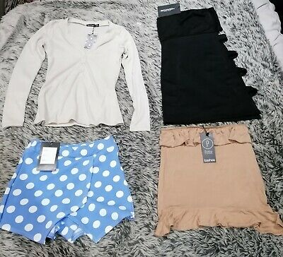 Bundle Joblot Ladies Clothing Size 6 pretty Little Thing Boohoo Misslook 4 Items