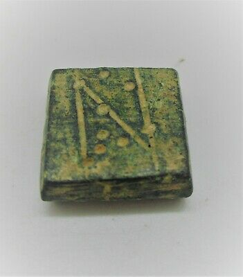 AUTHENTIC BYZANTINE PERIOD BRONZE CUBE SOLIDUS WEIGHT 5g