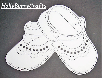 """Tattered Lace Baby, Child Die Cut Toppers ~ """"Baby Booties"""""""