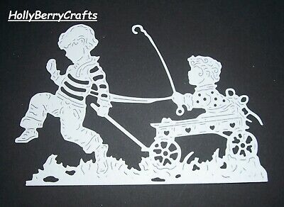 """Tattered Lace Summertime, And Children Die Cut Toppers ~ """"Playmate Silhouettes"""""""