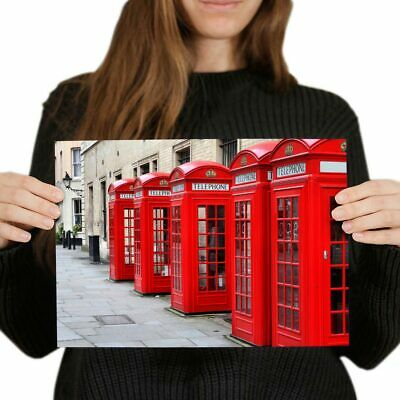 Red Telephone Box Trafalgar Square Maxi Poster 61cm x 91.5cm new and sealed