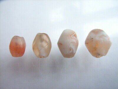 4 Ancient Roman Agate Beads, Romans VERY RARE!  TOP !!