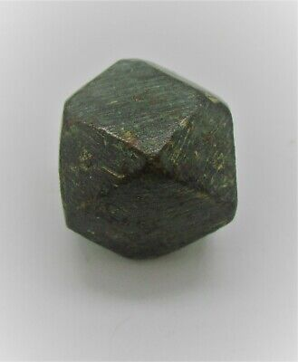 AUTHENTIC BYZANTINE PERIOD BRONZE CUBE SOLIDUS WEIGHT. 32g