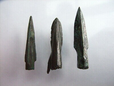 3 Ancient Roman Legionary Arrowheads, Bronze, Romans VERY RARE!  TOP !!