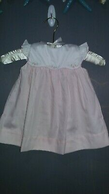 petie ami baby girls 6M pink white embroided Easter dress spring everyday EUC