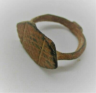 Detector Finds Roman Era Bronze Signet Ring With Lozenge Type Bezel