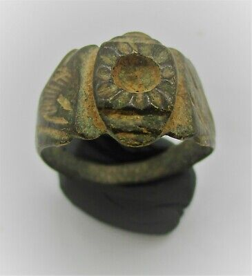 Detector Finds Ancient Bronze Ring With Sun Symbol On Bezel Very Nice