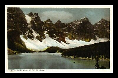 Postcard Moraine Lake Valley Of The Ten Peaks Along Canadian Pacific Railway