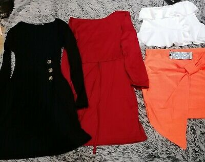 Bundle Joblot Ladies Clothing Size 8 Boohoo pretty little thing Nasty Gal mixed