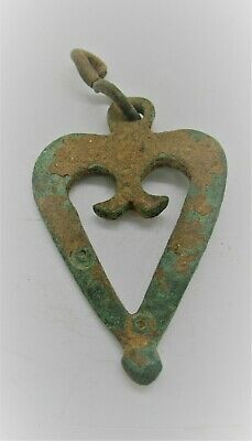 Detector Finds Ancient Roman Bronze Military Openwork Amulet Ca 300Ad