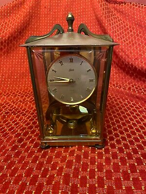 Shatz gold 400 day carriage clock made in Germany no key but winds manually