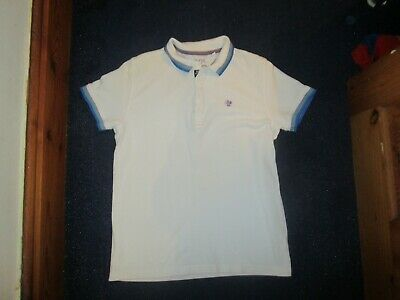 boys boy blue polo shirt top next white age 11 years short sleeved