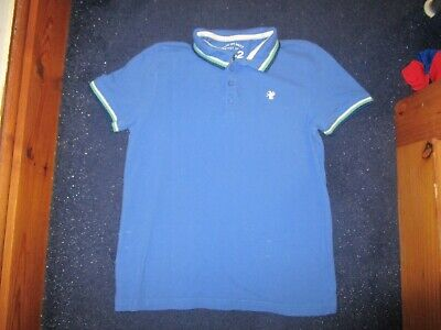 boys boy blue polo shirt top next bright blue age 11 years short sleeved