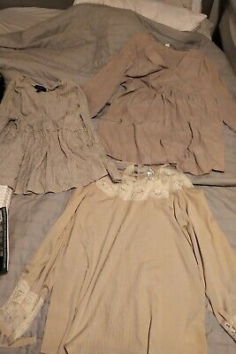 Beautiful maternity tops bundle ASOS new look h&m pinks peaches lace floaty 12 M