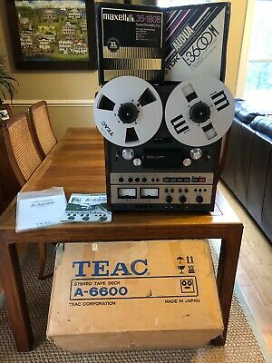 Super Nice Teac A-6600 Reel to Reel Tape Deck w/ Auto Reverse - Pro Serviced !!