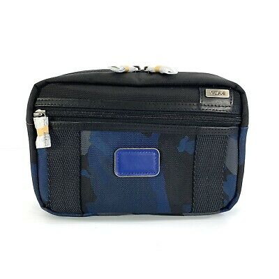 Tumi McGuire Toiletry Travel Accessory Shave Kit Gray Blue Black Camo Dopp Bag