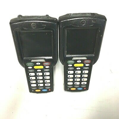Lot of 2x Motorola Symbol MC3190-GL2H04E0A Barcode Scanner Windows CE 6.0 1D