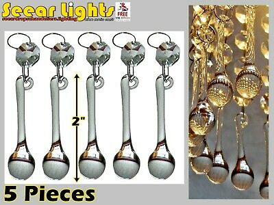 5 Chandelier Glass Crystals Drops Orb Wedding Table Beads Droplets Light Parts