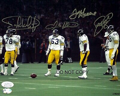 The Steel Curtain Signed 8x10 Autographed REPRINT PHOTO Pittsburgh Steelers RP