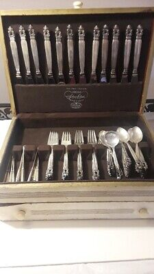Acorn by Georg Jensen Sterling Silver Service for 12 from 1915 Original Wood Box