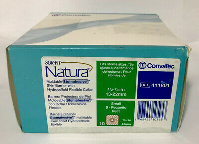 Sur-Fit Natura Moldable Technology Stomahesive Skin Barrier REF:411801 (10/Box)