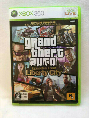 Grand Theft Auto Episodes From Liberty City Xbox 360 Free Shipping! From JAPAN