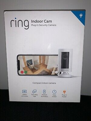 Ring Indoor Cam Plug-In Security Camera 8SN1S9-WENO BRAND NEW SEALED!