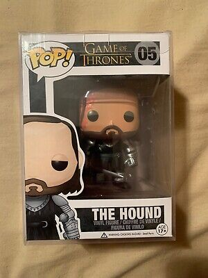 Funko POP Game of Thrones: The Hound Vinyl Figure With Pop Protector!!