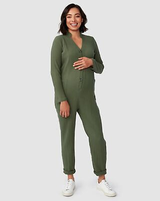 Pea in a Pod Kenya Jumpsuit in Khaki Maternity Pregnancy Clothing