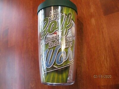 NEW Tervis 16 oz A BAD DAY OF Golf BEATS A GOOD DAY OF Work Tumbler With Lid